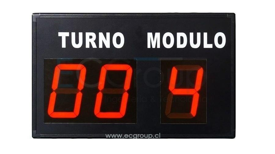 Turno Modulo  Inalambrica 3 Dígitos Segmento